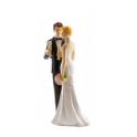 Dekora - Wedding cake topper couple champagne