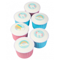 Assorted unicorn Edible Wafer, 12 pieces