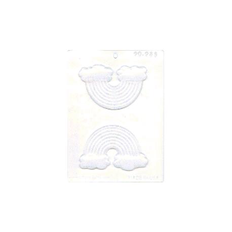 CK - Moule en plastique rigide pour chocolat arc-en-ciel, 2 cavités