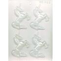 CK - Moule en plastique rigide pour chocolat licorne, 4 cavités