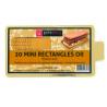 Planche rectangulaire mini dorée, 90 x 55 mm, 20 pièces