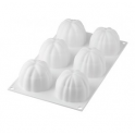 Silikomart - Moule en silicone Bloom 120, 6x Ø 68 h 52 mm