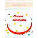 Baked with Love -  Decoration comestible Happy Birthday