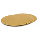 Cake board golden,  16  cm diameter, 3 mm thick