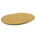 Planche dorée ronde, diamètre 16 cm, épaisseur 3 mm