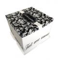 Boîte à gâteau arabesque, 21 x 21 x 22 cm