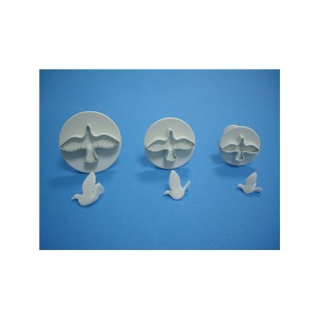 PME - Set of Three Dove Fondant Plunger Cutters
