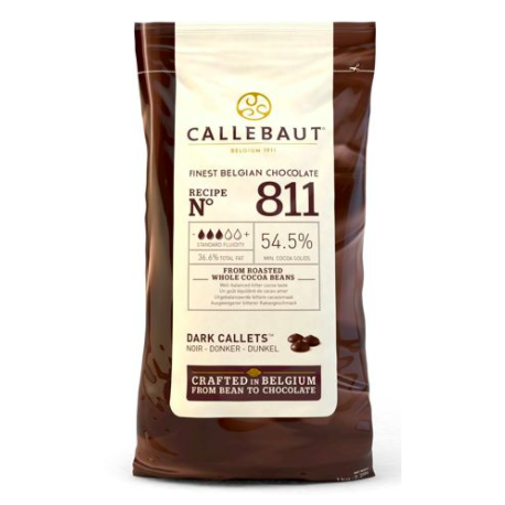 Callebaut - Dark chocolate drops, 1 kg