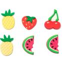 Decora Décorations en sucre fruits, 6 pièces