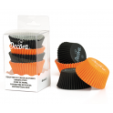 Baking Cupcake cups black/orange, 75 pieces
