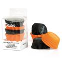 Baking Cupcake cups black/orange, 75 pieces