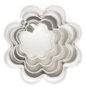 Cookie cutter flower, set of 5