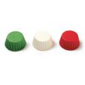 Caissettes à mini cupcakes blanc/vert/rouge, 200 pièces
