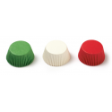 Baking cups Mini Cupcake red/green/white, 200 pieces