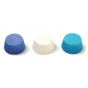 Baking cups Mini Cupcake white/blue light & dark, 200 pieces