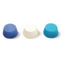 Caissettes à mini cupcakes blanc/bleu clair & foncé, 200 pièces