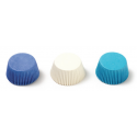 Baking cups Mini Cupcake white/blue light & dark, 200 pieces