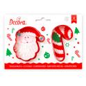 Decora - Cookie Cutter Santa & candy cane, 2 pieces