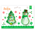 Decora - Cookie Cutter Christmas Tree & snowman, 2 pieces