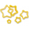 Decora - Star cookie cutter, 5 pieces