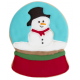Cookie cutter Snowman glass ball,  approx. 8 cm