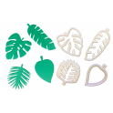 FMM - Creative tropical leaves cutter, set of 4