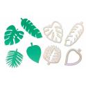 FMM - Emporte-pièce feuilles tropicales, set de 4