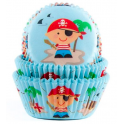 Baking Cups pirates blue, 50 pieces