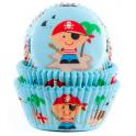 Caissettes à cupcakes pirates bleu, 50 pièces