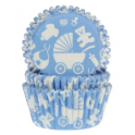 Baking Cups blue baby, 50 pieces