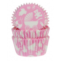 Baking Cups pink baby, 50 pieces