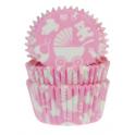 Caissettes à cupcakes bébé rose, 50 pièces