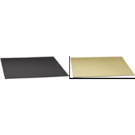 Cake Board square golden and black, 40x40 cm