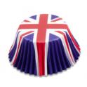 Caissettes à cupcakes Grande Bretagne/Royaume-Uni, 50 pièces
