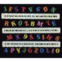 FMM Alphabet and numbers set Upper Case & numbers Carnival, 2 cm