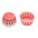 Baking Cupcake cups red hearts, 75 pieces