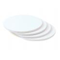 Planche blanche ronde, dia. 30 cm, épaisseur 1.2 cm