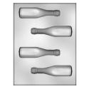 CK - Moule en plastique rigide pour chocolat bouteille, 4 cavités