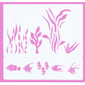 Cassie Brown - Aquarium stencil, set of 2