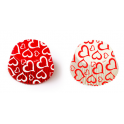 Baking Cupcake cups red hearts love, 36 pieces