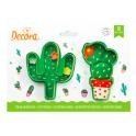 Decora - Emporte-pièce cactus, 2 pièces