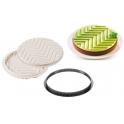 Silikomart - Kit tarte graphique, Ø250 mm
