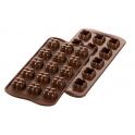 Silikomart - Moule Choco Game, 22 x 22 mm, 15 cavités