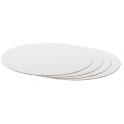 Planche blanc ronde, diamètre 25 cm, épaisseur 3 mm