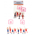 Decora - Decoration kit basketball, set of 10