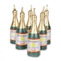 Bougies bouteilles de champagne, 6 pièces