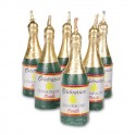 Candles set champagner bottles. Set 6 pieces