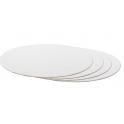 Planche blanc ronde, diamètre 20 cm, épaisseur 3 mm