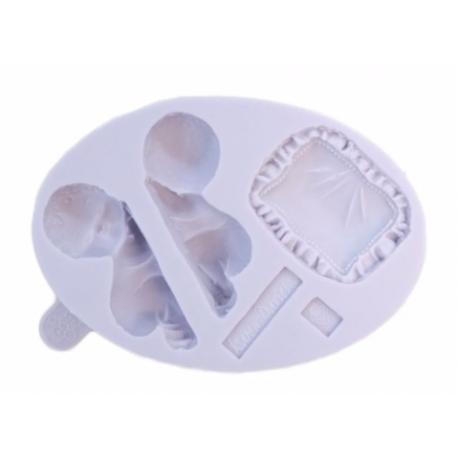 Karen Davies - Silicon mold sleeping baby with pillow