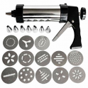 MC - Icing & biscuits piping gun, 8 tips & 13 cutters